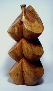 "Awakening of the Spring, 2004, Texas pecan, 26 x 12 x 10 1/2"""