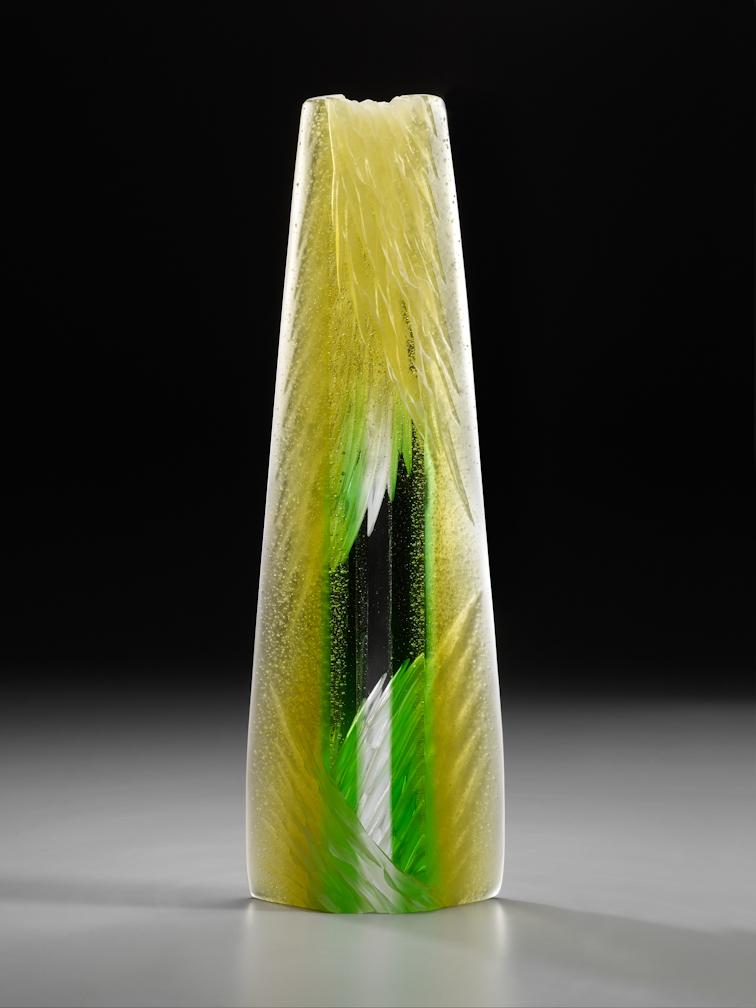 """Sun Twist, 2011, cast and cut glass, 20 x 6 1/2 x 2 1/2"""""""