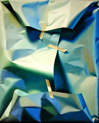 """Summer Parcel, 2004, oil on canvas, 20 3/4 x 17"""""""