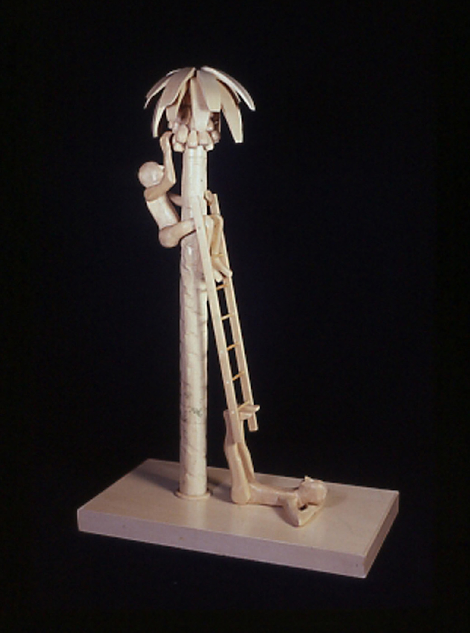 "Man Helping, 2002, pine wood, 20 1/4 x 13 x 7 1/2"""