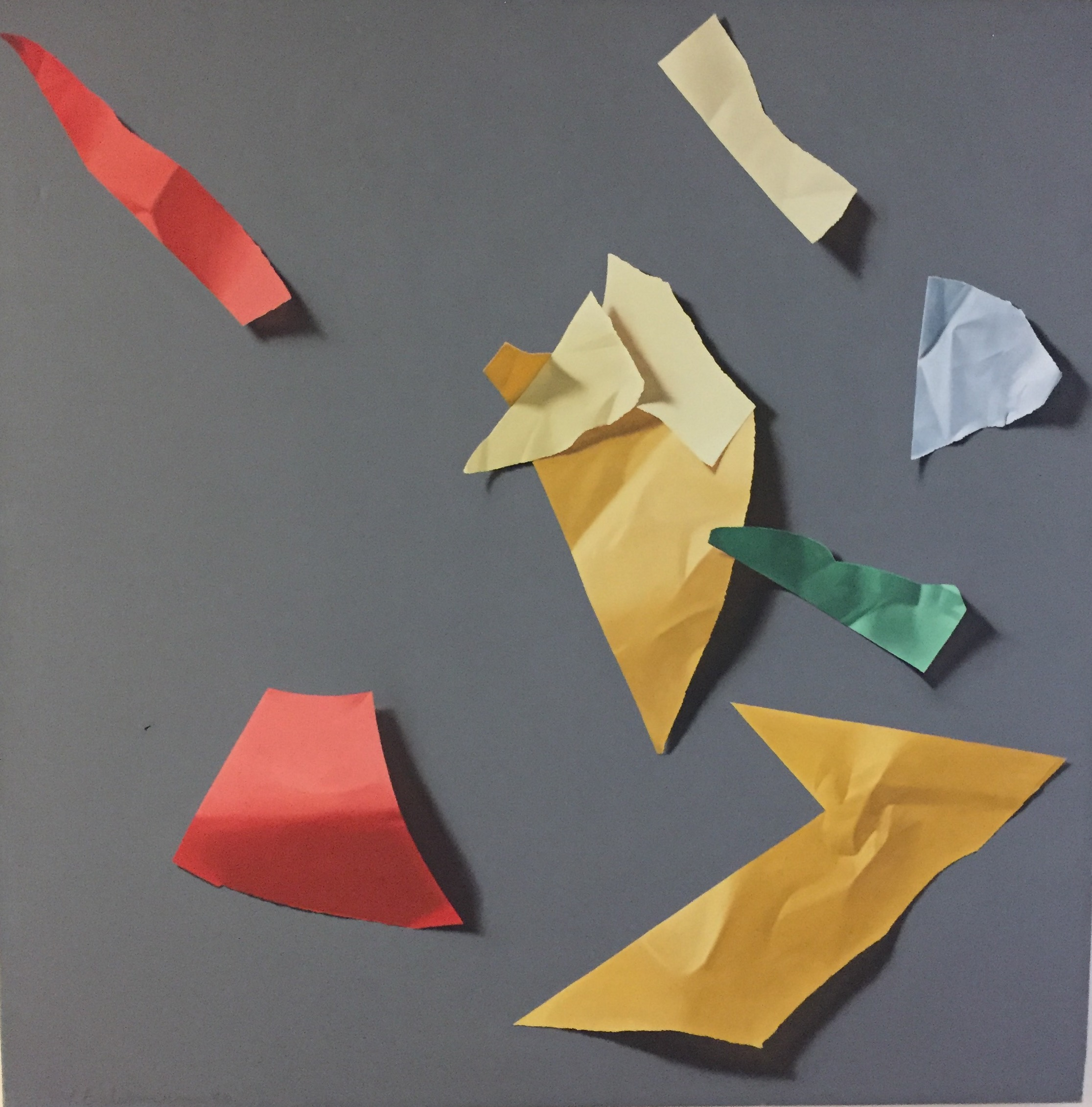 Untitled, 1983, oil on canvas, 39 1/2 x 39 1/2 x 1 1/2""