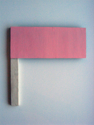 This is not my flag, 2008, acrylic on wood, 14 1/4 x 13 3/4""