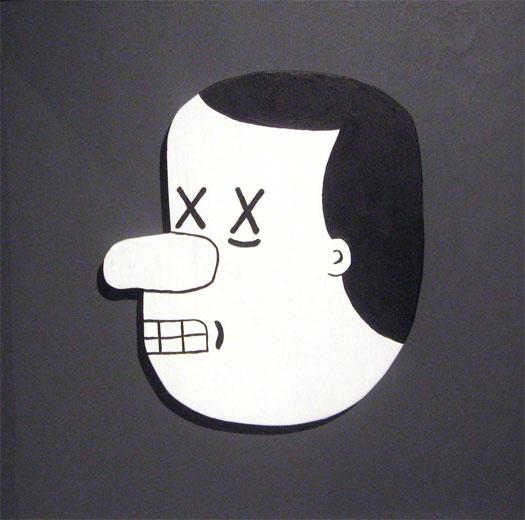 "Head of Sonny Liston, 2010, acrylic on wood, 13 3/4 x 13 3/4"""