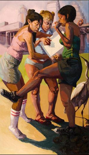 """Darkening of Desire 2006 oil on canvas 62 x 36"""""""