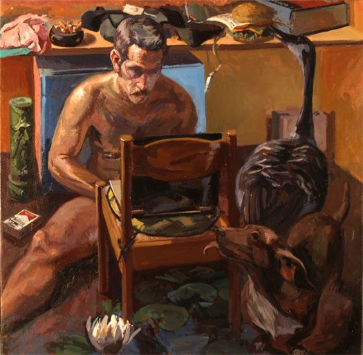 Questa Non E Una Pipa, 2008, oil on canvas, 36 x 36""