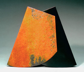 "The Letter A: Flat Black #2 2004 Sandblasted steel: treated, painted 12 1/4 x 14 x 1 1/2"""