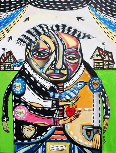 "Loyal, 2010, acrylic on canvas, 18 x 24"""