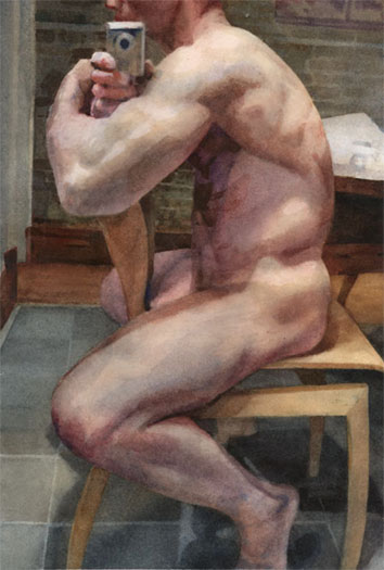"""Untitled, 2009, watercolor on paper, 9 1/2 x 6 1/2"""""""