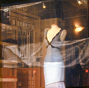 "Camisole, 2003, mixed media on panel, 5 x 5"""