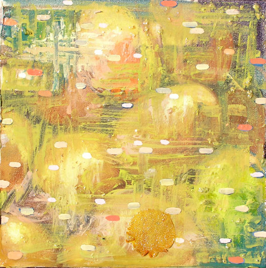 "Walking on Eggshells 2005 Oil on canvas 10 x 10"""