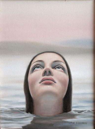 "Skinny Dipper, 2008, oil on canvas, 12 x 9"""