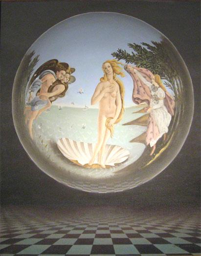 """Ecco Botticelli 2007 oil on canvas 30 x 24"""""""