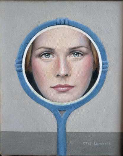 The Blue Mirror, 2007, oil on canvas, 10 x 8""