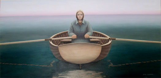 """Silent Water, 2007, oil on canvas, 24 x 48"""""""