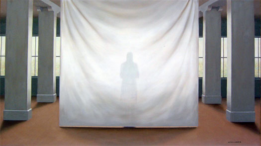 """The Visitor 2006 Oil on canvas 28 x 50"""""""