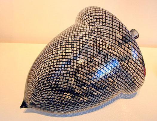 """Reticello Acorn, 2006, blown, 12 x 9"""""""