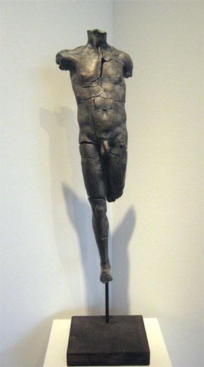 """Torso Levitante, 2000, bronze, 24 x 7 1/10 x 7 1/2"""""""