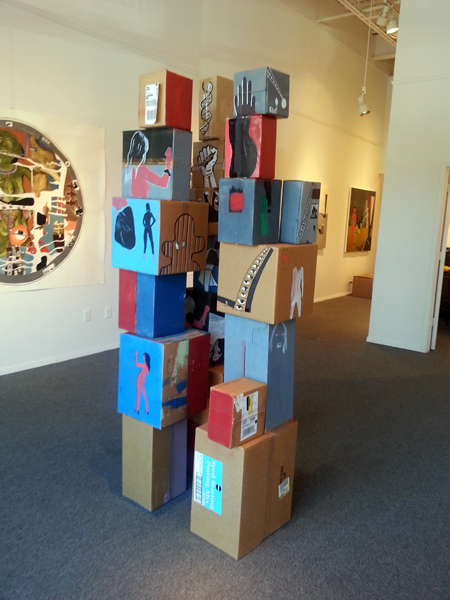 """Sex and the City 2013 painted box construction - $6,500 for all 3 towers or $2,500 for each tower 80 x 34 x 32"""""""