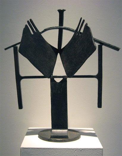 """CJ (Madame Walker), 2002, steel, 21 x 18 x 7"""""""