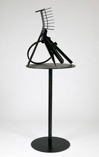 "Martin Payton, ""Ravellington"", 2009, steel, 25 x 20 x 17"""