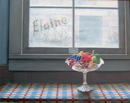 """Frosted Glass 2006 Oil on canvas 22 x 28"""""""