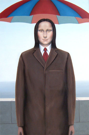 Mona Magritte 2006 Oil on canvas 36 x 24""