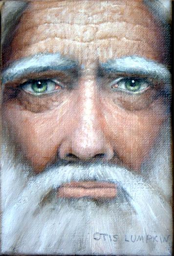"Old Man 2006 Oil on canvas 6 x 4"""