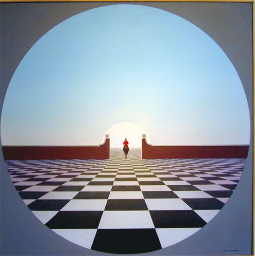Threshold 2006 Oil on canvas 40 x 40""