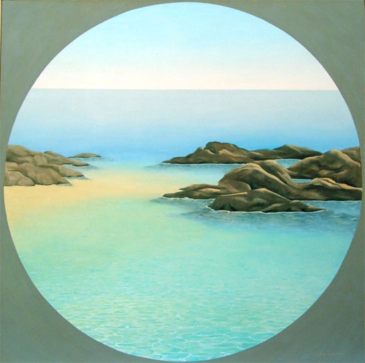 """To the Sea 2006 Oil on canvas 40 x 40"""""""