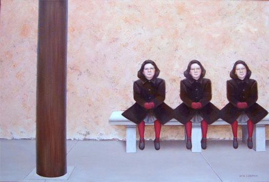 "Tre Ragazze 2006 Oil on canvas 24 x 36"""