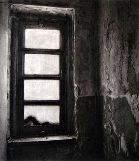 """Lady's Room II, 2006, charcoal on paper, i.s. 30 1/2 x 26"""""""
