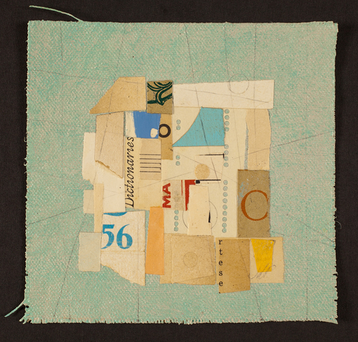 "Rite (Gameboard), 2012, paper, acrylic, graphite on cut canvas, vintage frame, f.s. 7 x 7"" / i.s. 5 x 5"""