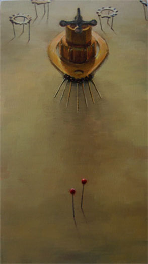 """March 2007 Oil on wood 5 1/2 x 9 3/4"""""""