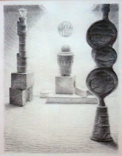 "Los Illuminados: American Theocracy, 2008, graphite on paper,  i.s. 12 1/2 x 10"""
