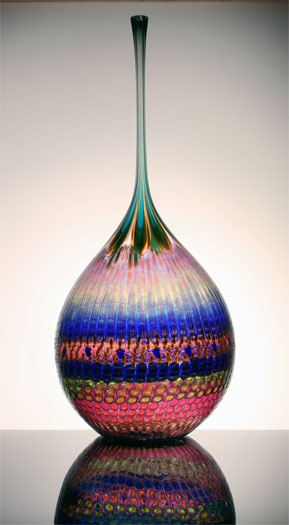 Breezy Vulnerable Jupiter, 2000, blown 46 x 19 1/2 x 19 1/2""