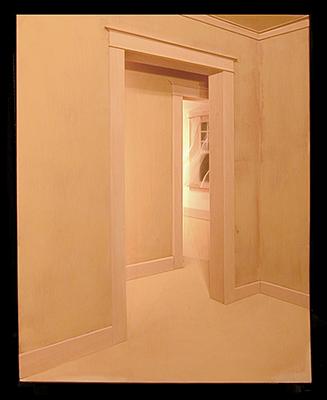 """The Far Room 2002 Mixed media construction 30 x 24 x 8"""""""