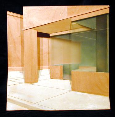 "Corner of Judd and Hopper 2003 Mixed media construction 12 x 11 x 4"""