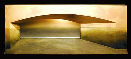 """Ocean View 2003 Mixed media construction 17 x 41 x 7"""""""