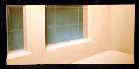 "Studio Corner 2003 Mixed media construction 11 x 24 x 4"""