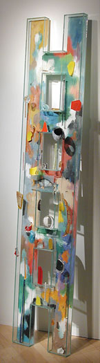 Pacific, 2000, assembled, blown, cast, and painted glass, 78 x 18 x 6""