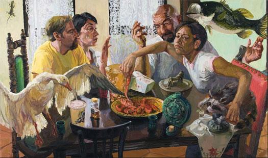 "Texas Transplant, 2005, oil on canvas, 36 x 60"""